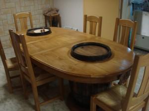 Agencement, fabrication de meuble à Sézanne dans la Marne, 51, table en bois massif, menuisier Marne, Anglure, Vertus