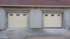 Porte de garage, menuiserie Lemaire à Vertus dans la Marne, 51
