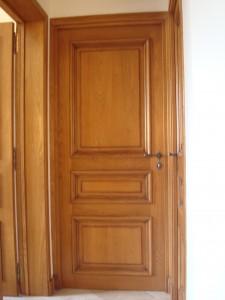 Porte d'intérieur en bois, menuiserie Lemaire dans la Marne, 51